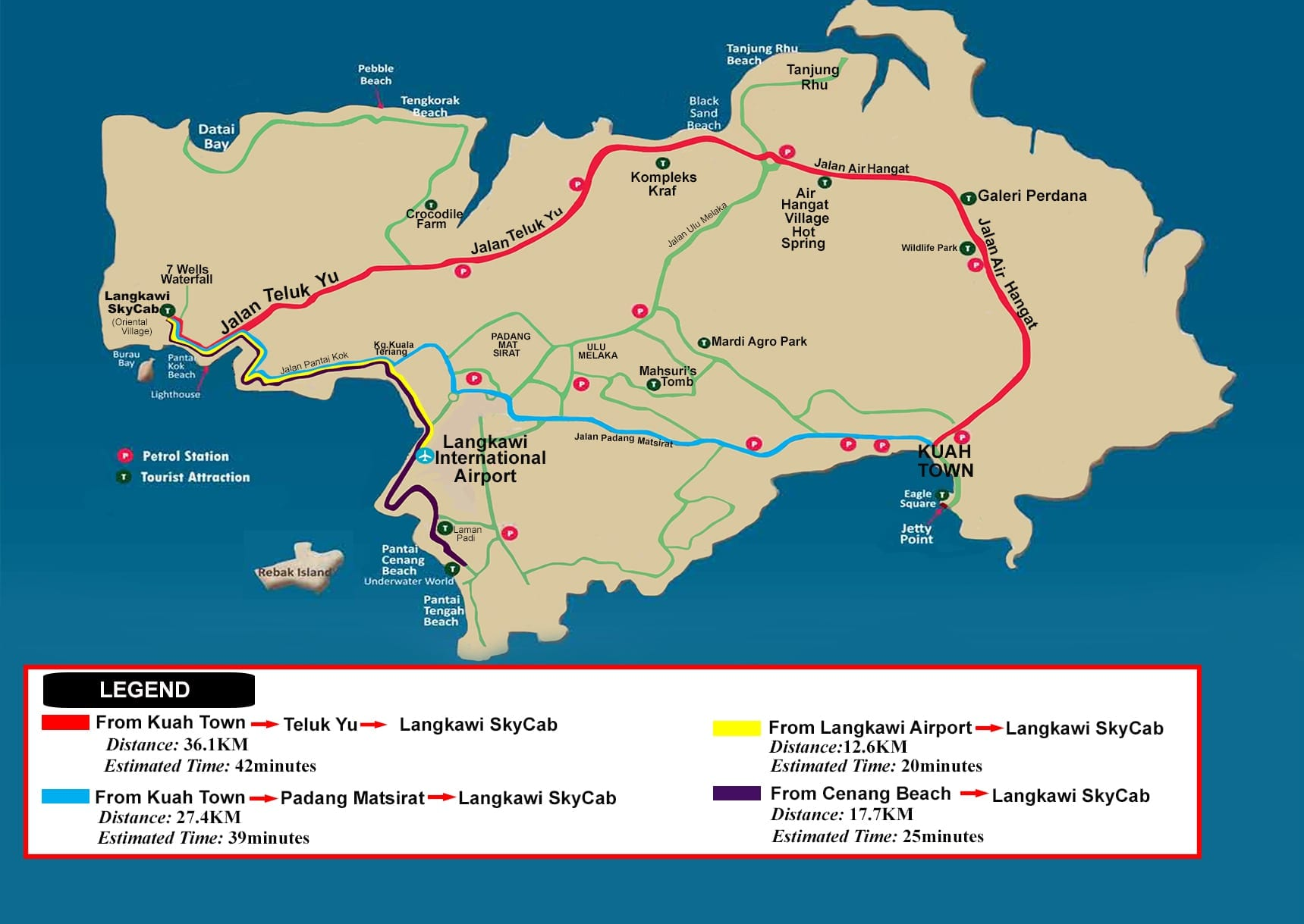 Location Maps Official Website For Langkawi Cable Car