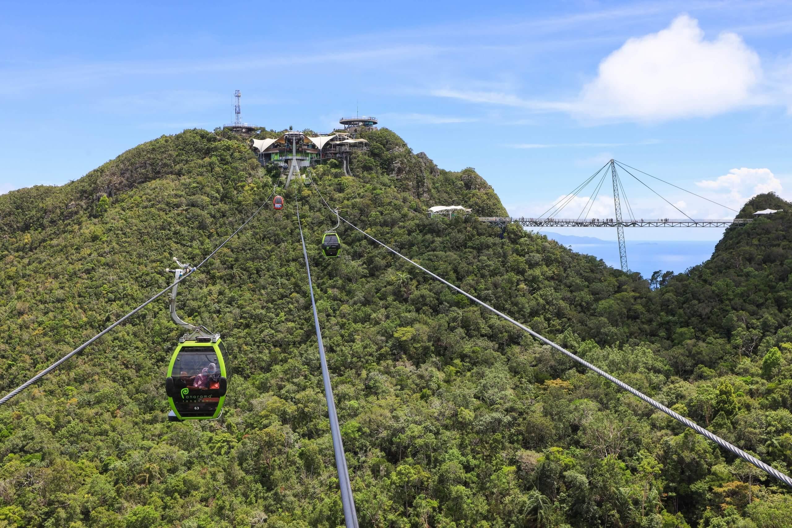 langkawi cable car skycab view
